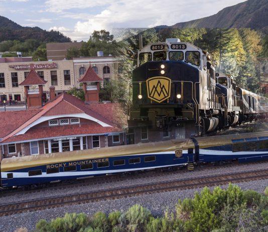 Canadian luxury scenic train line